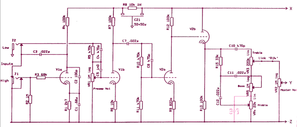 schematics_overlay tell me about jcm800 4010 Marshall 2204 Kit at n-0.co