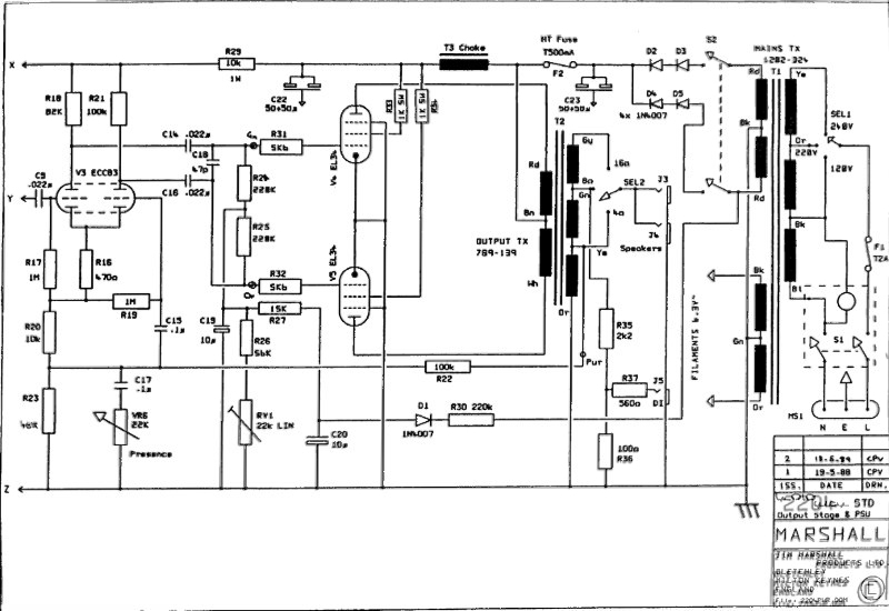 Tell Me About JCM800 4010. Marshall Cl Wiring Diagram on